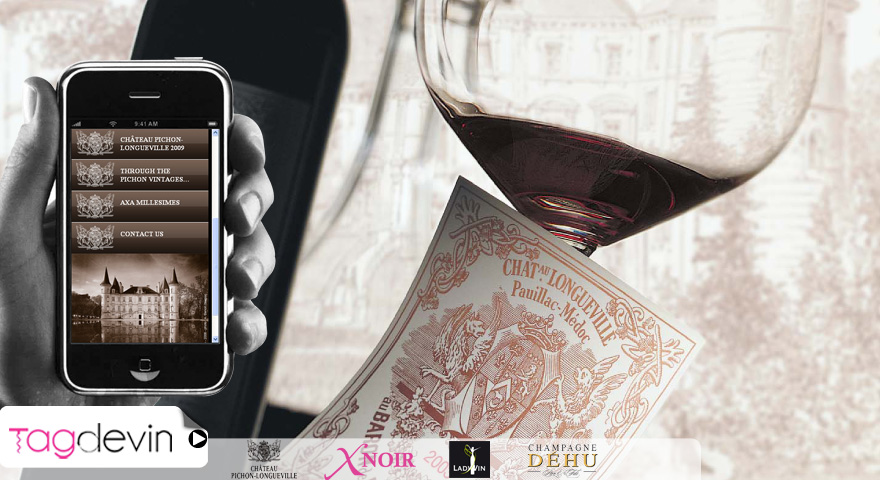 tagdevin QR-code bouteille de vin application site  mobile